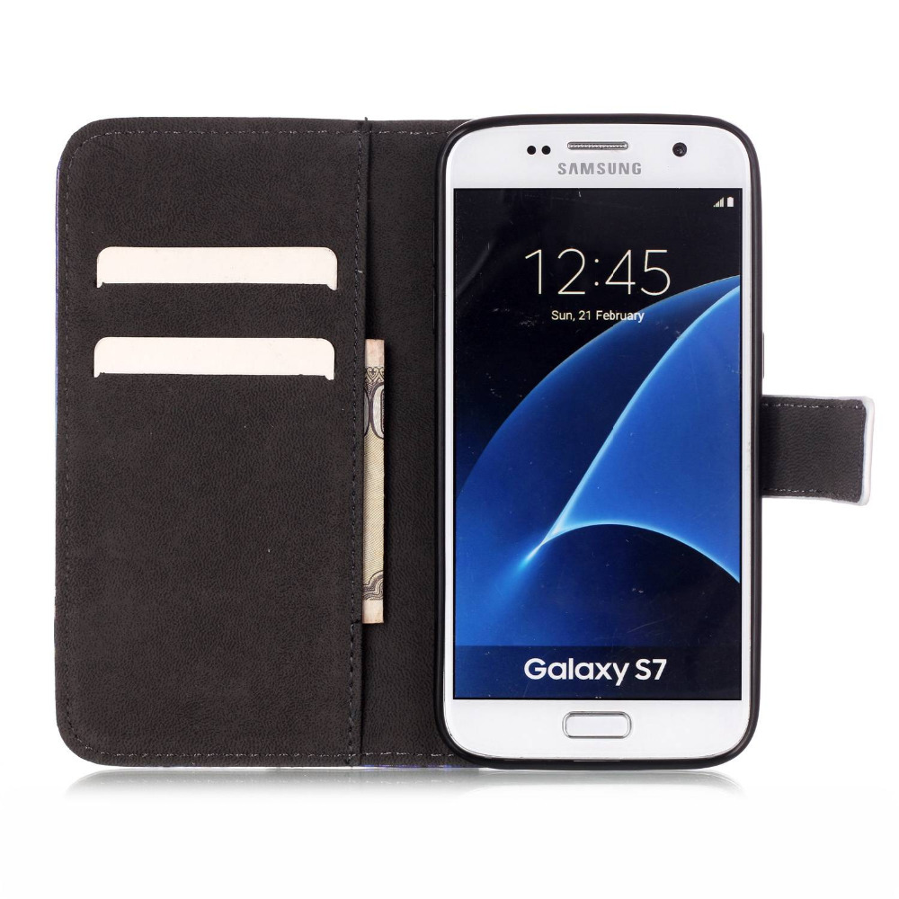 S7 Wallet Cell Phone Case Bags For Samsung Galaxy S7 Leather Cover Telephone Accessories Book Card Solt Cases Coque Fundas