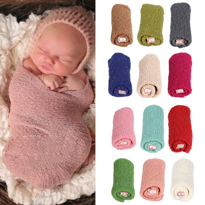 40*150cm Stretch Knit Wrap Newborn Photography Props Kids Baby Nubble Rayon Wraps Maternity Scarf Hammock Women Shawl