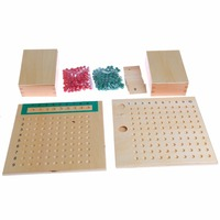 Montessori Mathematics Material Multiplication Bead Board Educational Preschool Training Toys Kid