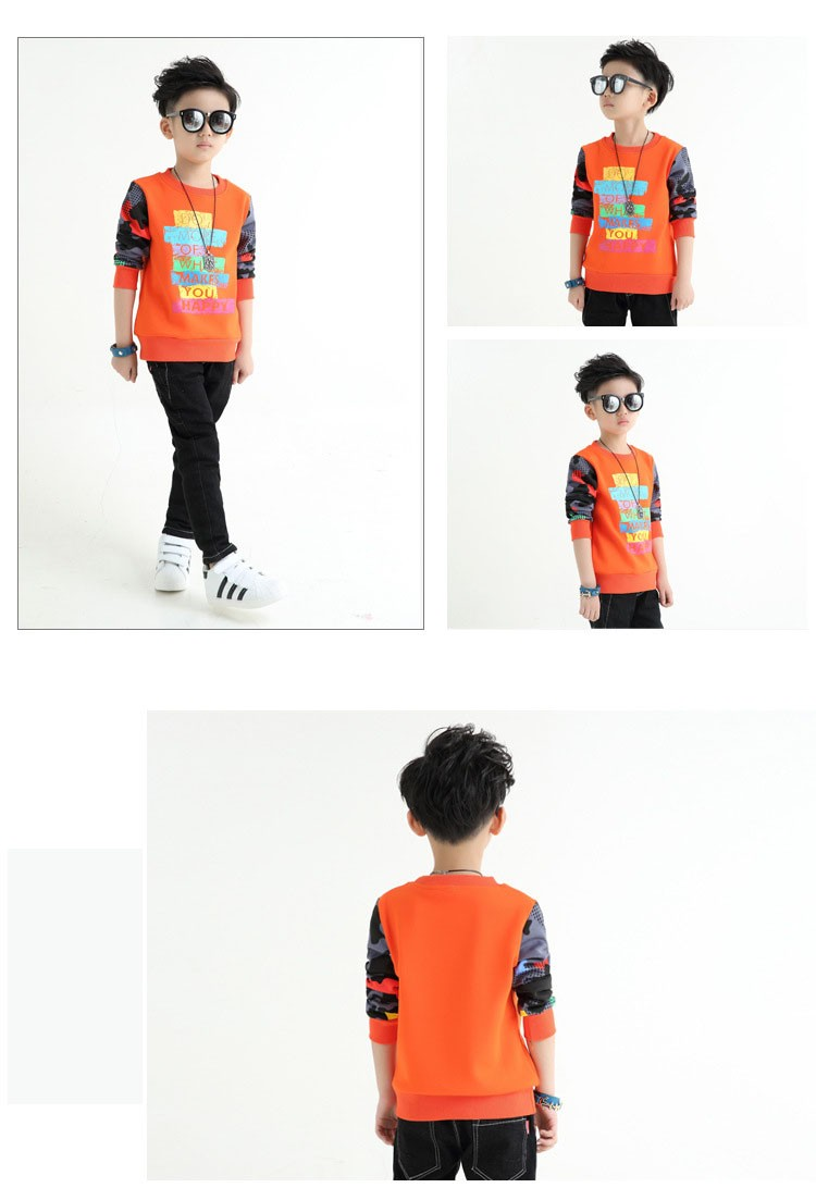 fashion casual new arrival 2017 camouflage patchwork children tops tees boys long sleeve t shirts kids clothes new 2017 spring autumn teenager boys kid t shirt clothes  (5)