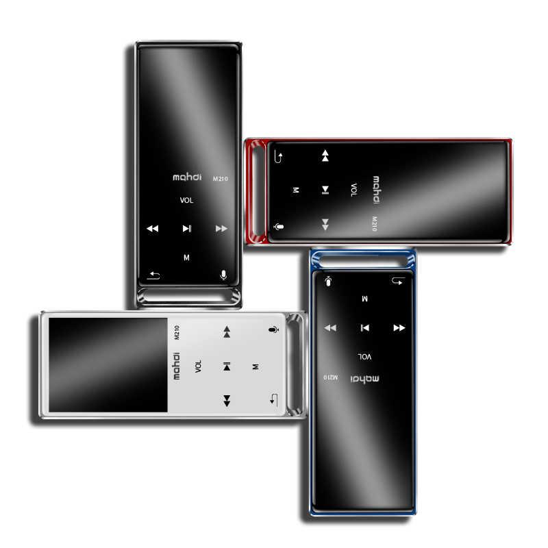Reproductor Mp3 mahdi M210, pantalla táctil Bluetooth, 1,8 pulgadas, portátil, deportivo, USB, reproductor de música de alta fidelidad, 16 GB, compatible con tarjeta TF, ultrafino