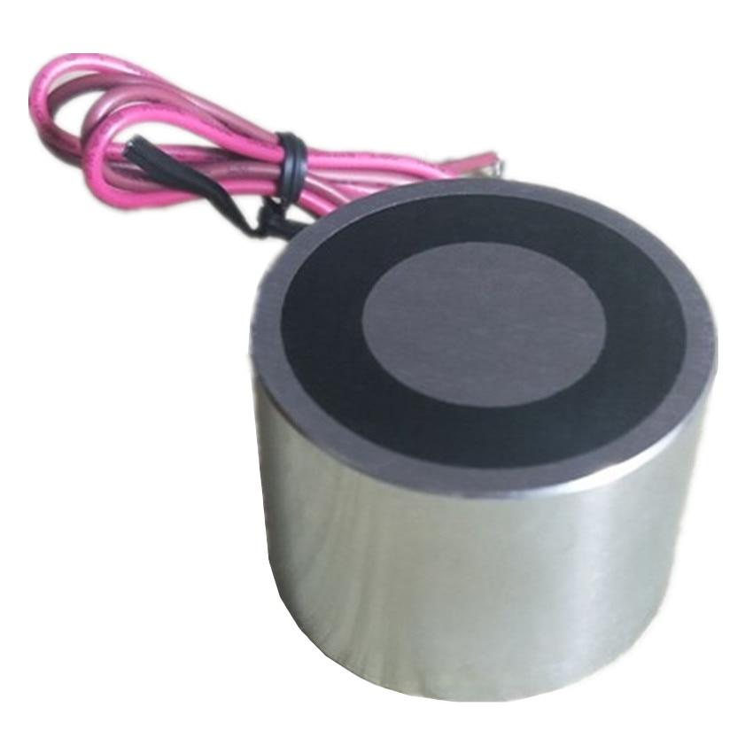 1 350KG Pulling Force Electromagnet Dia. 12 150mm Solenoid 12V 24V DC Input Low Consumption Strong Lifting Magnet Controller