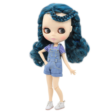 Factory Neo Blythe Doll Blue Black Hair Jointed Body 30cm