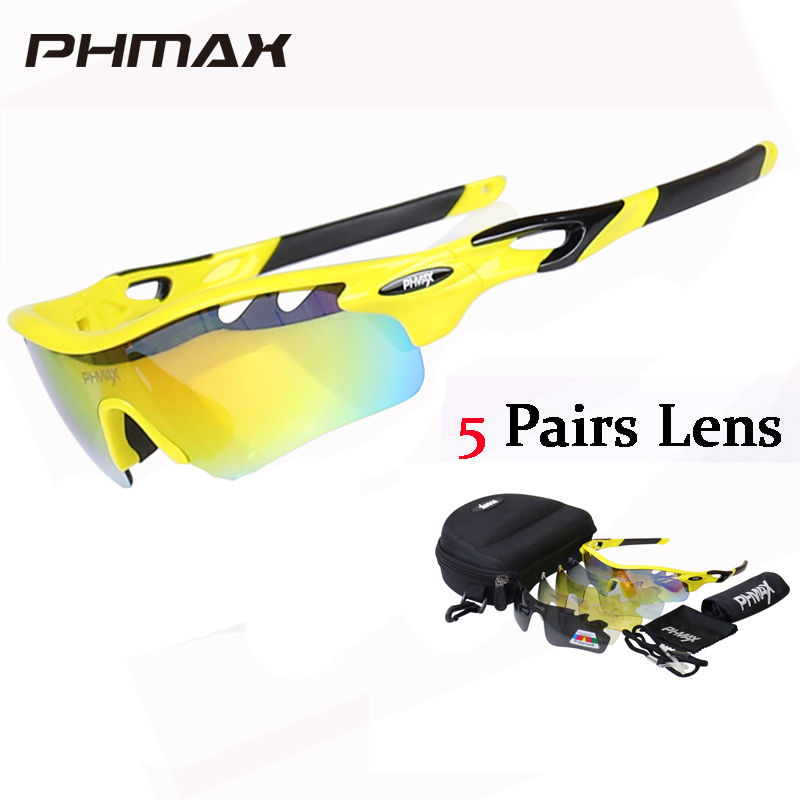 5f9018c86d PHMAX 2018 TR90 Frame Cycling Sun Glasses Polarized 5 Lens MTB Bike Eyewear  Bicycle Goggles Gafas de Ciclismo Cycling Sunglasses-in Cycling Eyewear  from ...