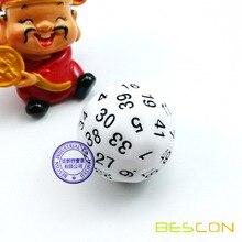 Bescon многогранные кубики в переменного тока, 50-кубика, D50 под давлением, D50 кости, 50 сторон кости, 50 Двусторонняя Куб Белый Цвет