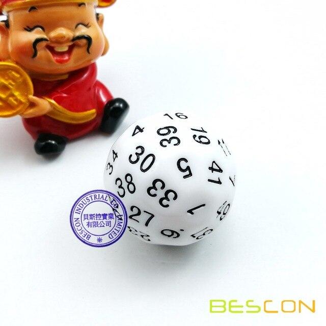 Bescon Polyhedral Würfel 50 sided Würfel, D50 sterben, D50 würfel ...