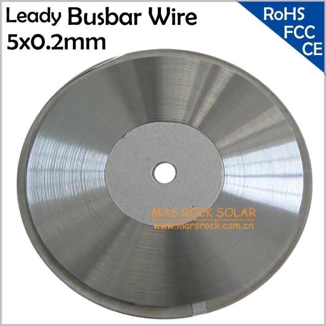 200feets / 61meters 5x0.2mm Leady Solar Busbar Wire, Solar PV Ribbon Wire for Solar Cells Connect, 5mm Solar Busbar, CE FCC,RoHS