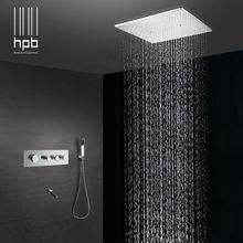 HPB Latón Baño de Agua Termostático Mezclador de Techo Montada la Cabeza de Ducha de Baño Ducha de Lluvia Set Grifo torneira banheiro HP2216