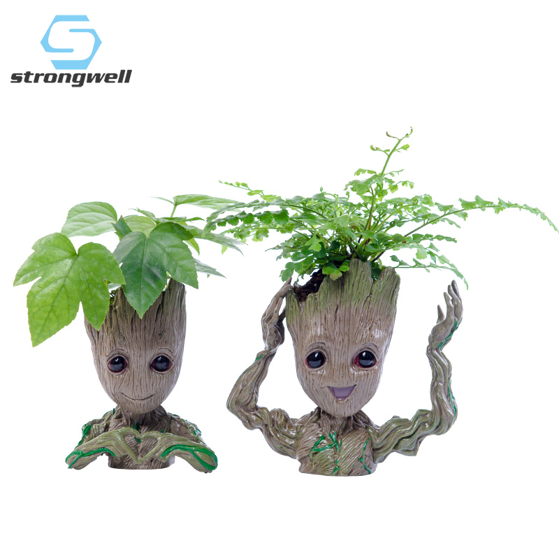 Strongwell Baby Groot Flowerpot Flower Pot Planter Figurines Tree Man Cute Model Toy Pen Pot Garden Planter Flower Pot Gift