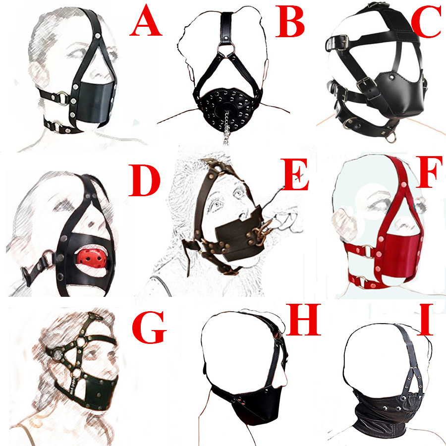 Leather Mouth Muzzle Strap,Soft Ball Gag Head Harness,Half Head Strap Accessories,Role Play System