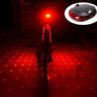 New Cycling Bike Bicycle Gypsophila Laser Projector Lamp And 5 LED Rear Tail Light AL2205