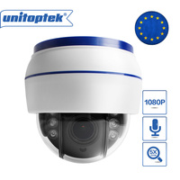 HD 1080P Wireless Dome PTZ IP Camera WIFI Auto Focus 5X Zoom Lens Indoor Audio+SD Card Slot Night Night ONVIF WI FI Security Cam