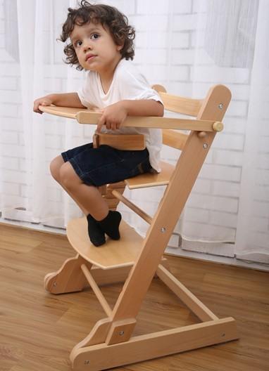 As crianças comem cadeira da cadeira de bebé em madeira Maciça em bebês Multifunções pode ser dobrado maçaneta de engrenagem de mudança de elevação portátil
