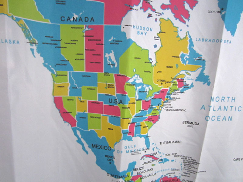 Online shop mosunx business shower curtain world map pattern aeproducttsubject gumiabroncs Gallery