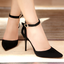 Free Shipping Women's Genuine Leather Shoes Ankle Strap Pointed Toe Stilleto Thin high Heels Newest Women's Sandals AS505