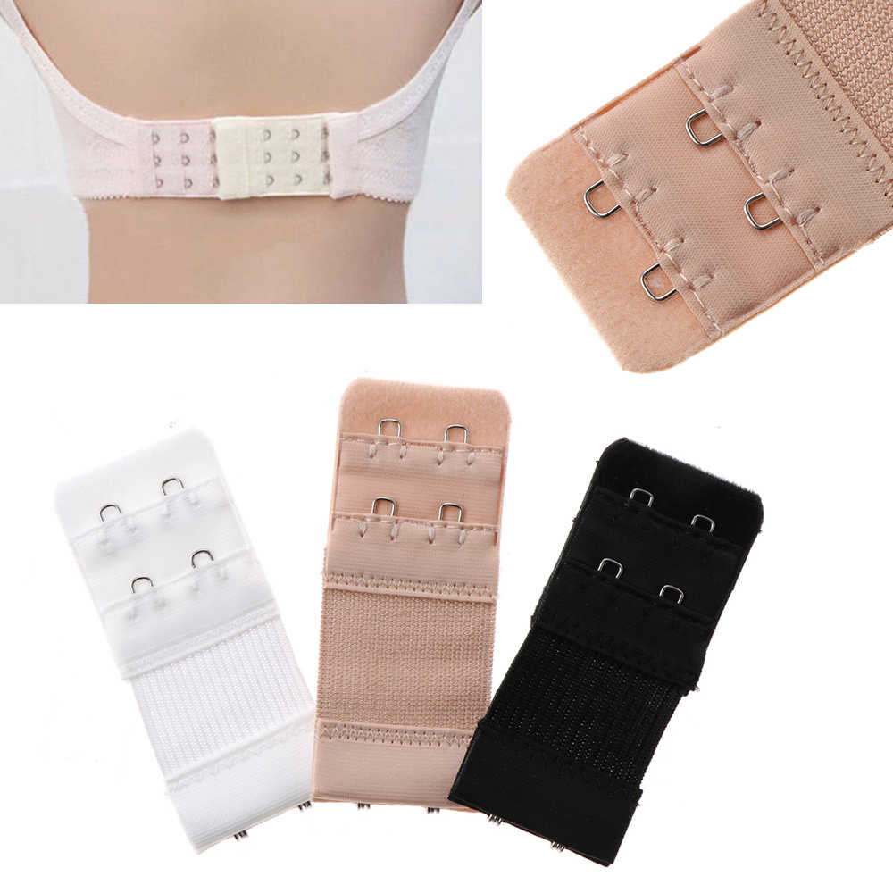 3 Pieces of 2 Hooks Lady Bra Extender Extensions Straps Underwear Strapless Intimates Accessories For Reduces Bra Tightness