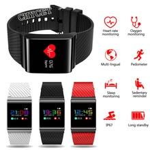 X9 Pro Smart Band Часы Приборы для измерения артериального давления сердечного ритма Мониторы смарт-браслет с цветной экран Шагомер Фитнес трекер