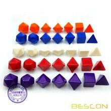 Bescon пустые многогранные ролевые игральные кости 35 шт. набор разных цветов, однотонные цвета в комплекте 7, один набор для каждого цвета, кости «сделай сам»