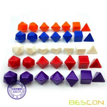 Bescon puste wielościenne kości RPG 35 sztuk w różnych kolorach zestaw jednolite kolory w kompletnym zestawie 7 jeden zestaw dla każdego koloru DIY kości tanie i dobre opinie BCD510A35