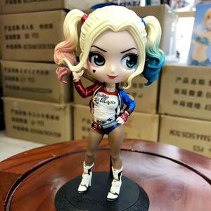 Image 3 - Disney Q Posket Figures Toy Harley Quinn Suicide Squad Wonder Woman Avengers Endgame Model Dolls Gift for Children