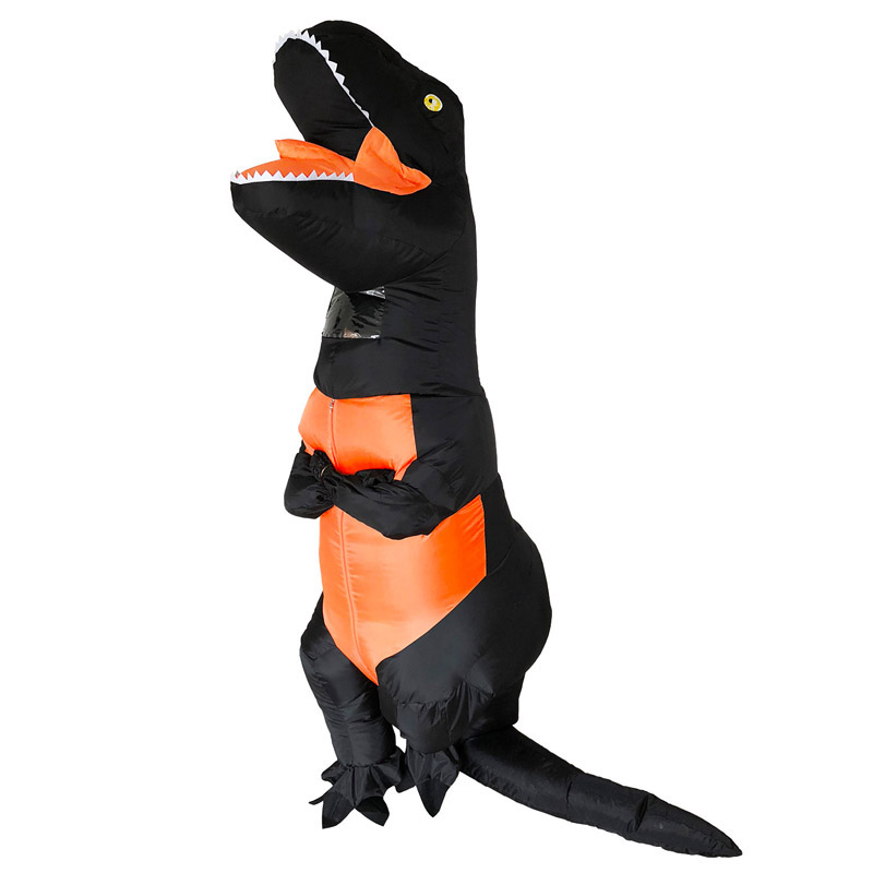 New Black Gray Dino Costume inflatable dinosaur costume For Anime Expo traje de dinosaurio T REX
