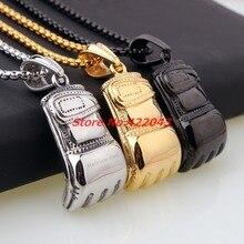 Новое поступление серебряное золото черный выбор из нержавеющей стали фитнес-мотор боксерские ювелирные подвески в виде перчаток Ожерелье коробка цепь, высокое качество