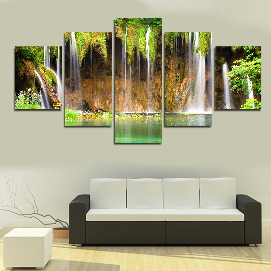 5pc/Set Large Canvas Painting Pictures On The Wall Print