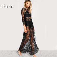 d075be845b750 Popular Beach Long Lace Dress Sheers-Buy Cheap Beach Long Lace Dress ...