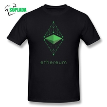Ethereum Cryptocurrency T Shirts Crew Neck Vintage Style Tees Cotton Men 2018 Fashion Short Sleeves T-Shirts Blockchain Crypto