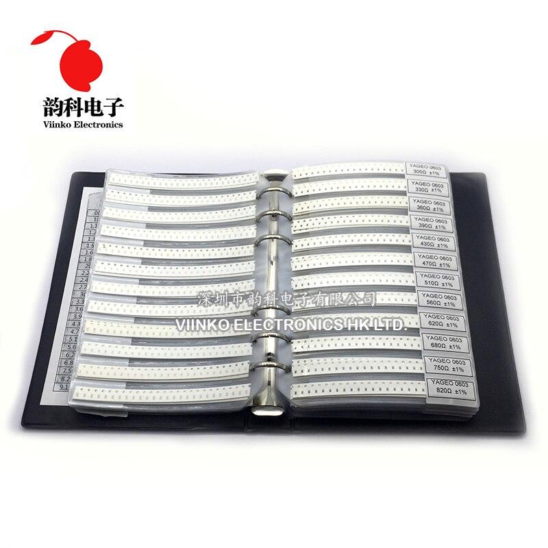 SMD Resistor Sample-Book 0603 0R 170valuesx25pcs 0r--10m 4250pcs 1%1/10w