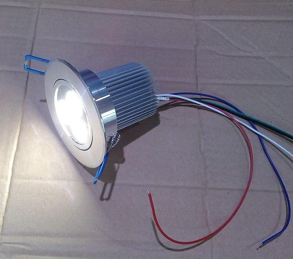 bezmaksas piegāde uz Eiropu RGBW 4in1 3X4W LED griestu gaisma DC 12V 5 vadi 20PCS / Lot ar 1 dmx dekodētāju un 1 barošanas avotu