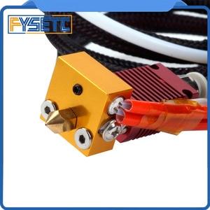 MK10 Собранный экструдер Горячий Конец комплект для CREALITY 3D принтер CR-7/CR-8/CR-10 1,75 мм 0,4 мм сопло принтер алюминиевый нагревательный блок
