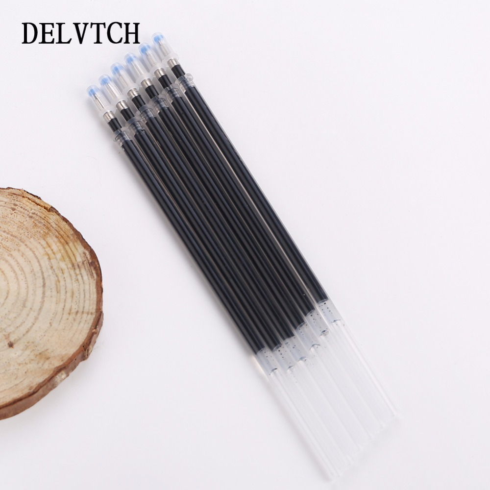 DELVTCH 0 5mm 30pcs lot Gel Pen Refill Office Signature Rods For Handless Red Blue Black Gel Ink Refill Office School Supplies in Gel Pens from Office School Supplies