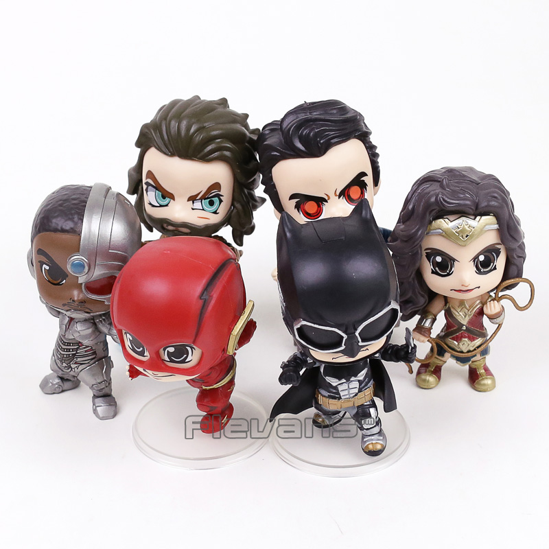 Justice League Superman Batman Wonder Woman The Flash Aquaman Cyborg PVC Figures Toys 6pcs/set 10~12cm виниловая пластинка justice woman