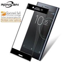 Protector de pantalla para Sony Xperia XZ Premium G8141 G8142 3D curvo de cristal templado para Sony XZ Premium Dual Sim RONICAN