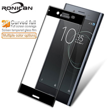for Sony Xperia XZ Premium G8141 G8142 3D Curved Full Cover Tempered Glass for Sony XZ Premium Dual Sim RONICAN Screen Protector