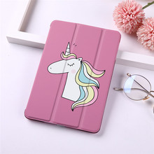 "Unicorn Print Tablet Case Cover for iPad Pro 9.7"" 10.5"" 11"" 12.9"" 2018 PU Leather Tablet Folding Folio Case(China)"