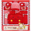 2016 Summer Newborn Baby Gift Set Baby Combed Cotton Baby Girl Fashion Clothes Hot Sale