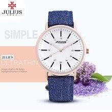 2017 mujeres del reloj julius marca de moda de lujo de cuarzo ocasional relojes de señora relojes mujer relojes de las mujeres vestido de la muchacha de regalos reloj