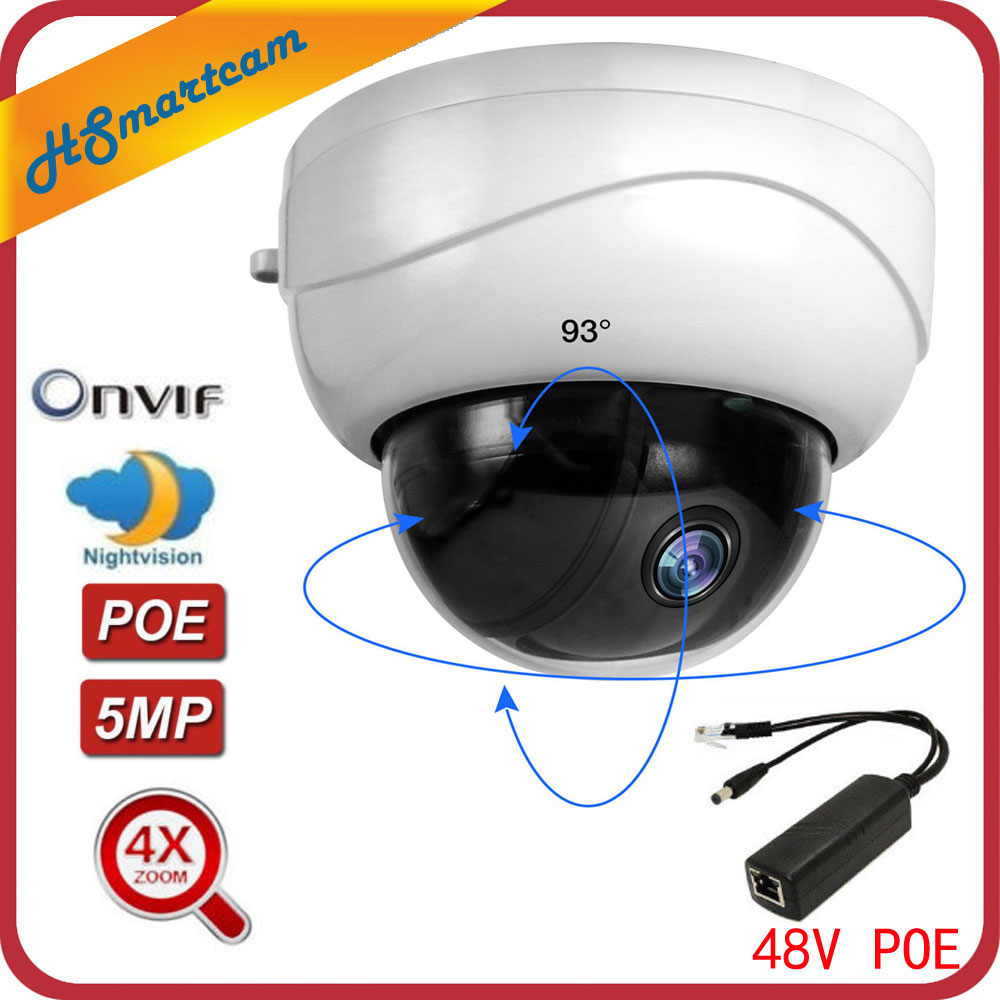 Image 2 - 5MP POE PTZ Dome 4X Optical Zoom 2MP IP Camera Network CCTV 1080P IR Night Security RJ45 Mini HD Cameras For HK XMeye ONVIF NVR-in Surveillance Cameras from Security & Protection