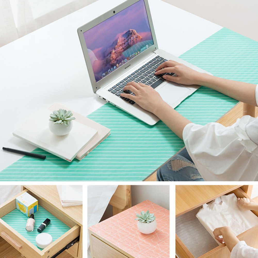 1 Pc Cabinet Table Desktop Mat Drawer Liner Wardrobe Shelf Pad ...