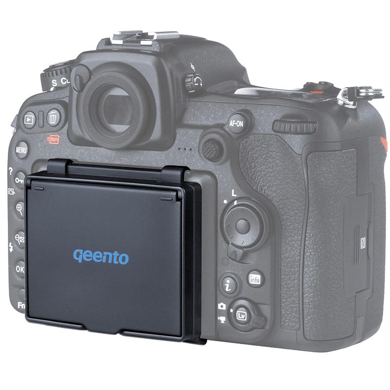 Qeento lcd capa protetor de tela lcd pop-up sun sombra escudo tampa para mirrorless câmera digital para nikon d500 dlsr câmera