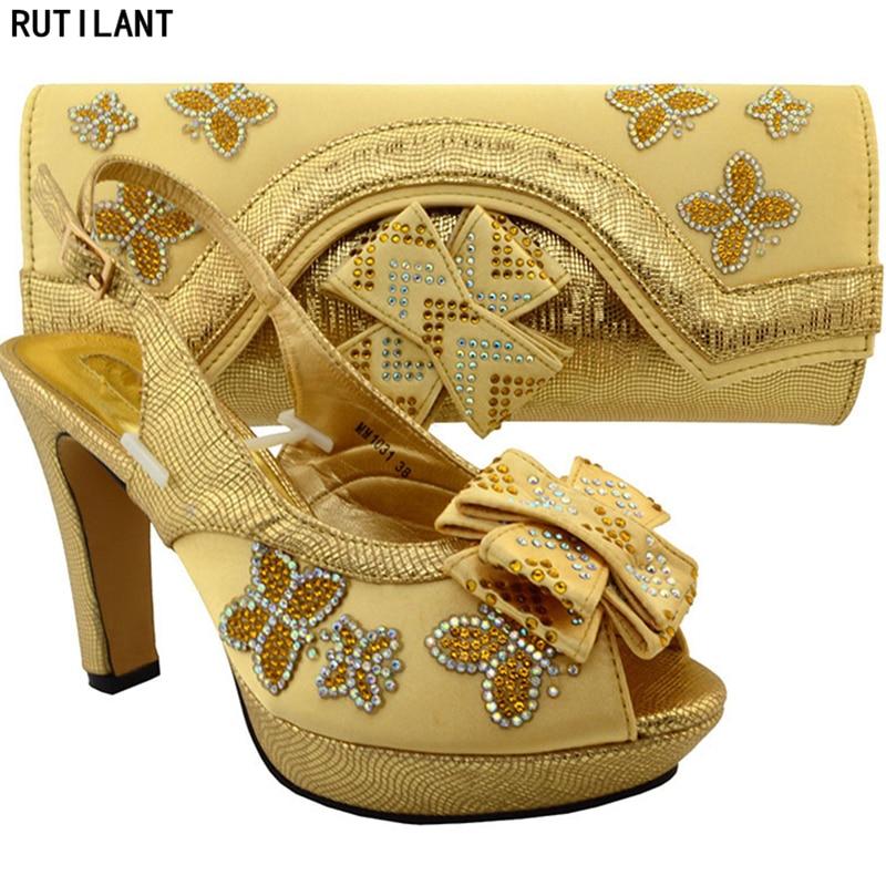 Africain Chaussures Italien bleu Dames rose Sac Parti Ensembles Or fuchsia Design Nouvelle vert café orange Royal En Arrivée Cuir Ensemble Et argent BHIWXqzw
