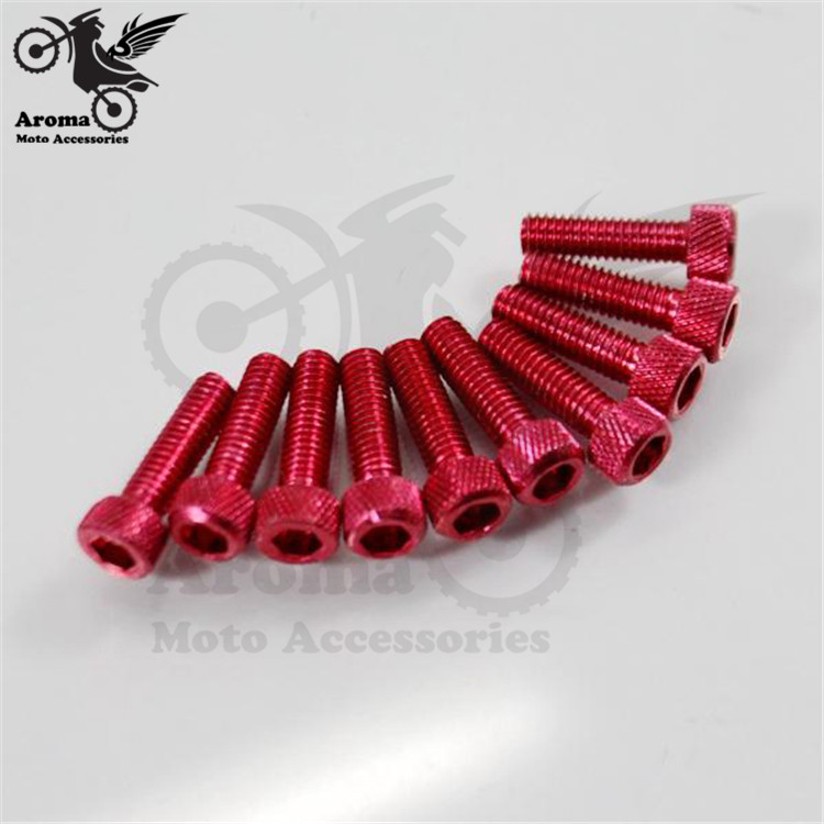 10PCS motorcycle Accessories motorbike screw 6mm motocross decal universal ATV decoration Off-road moto dirt pit bike scooter 320mm motorcycle fork rear nitrogen shock absorber for bws100 bws125 rd250 350 pit atv scooter motorbike colorful