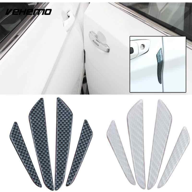4PCSประตูรถขอบด้านข้างสำหรับBMW Benz Audi Nissan VW Guard Trimสติกเกอร์Anti Collision Stripป้องกันเทปUniversal