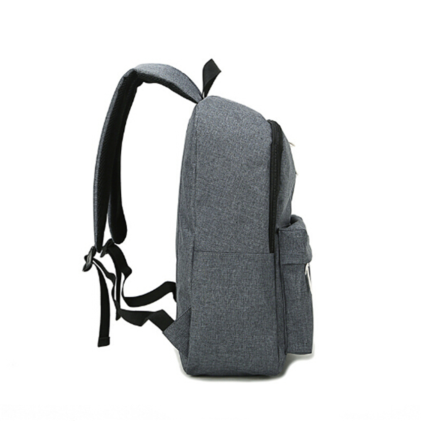 Dida Bear Fashion Canvas Backpacks Large School Bags For Girls Boys Teenagers Laptop Bags Travel Rucksack Mochila Gray Women Men #4