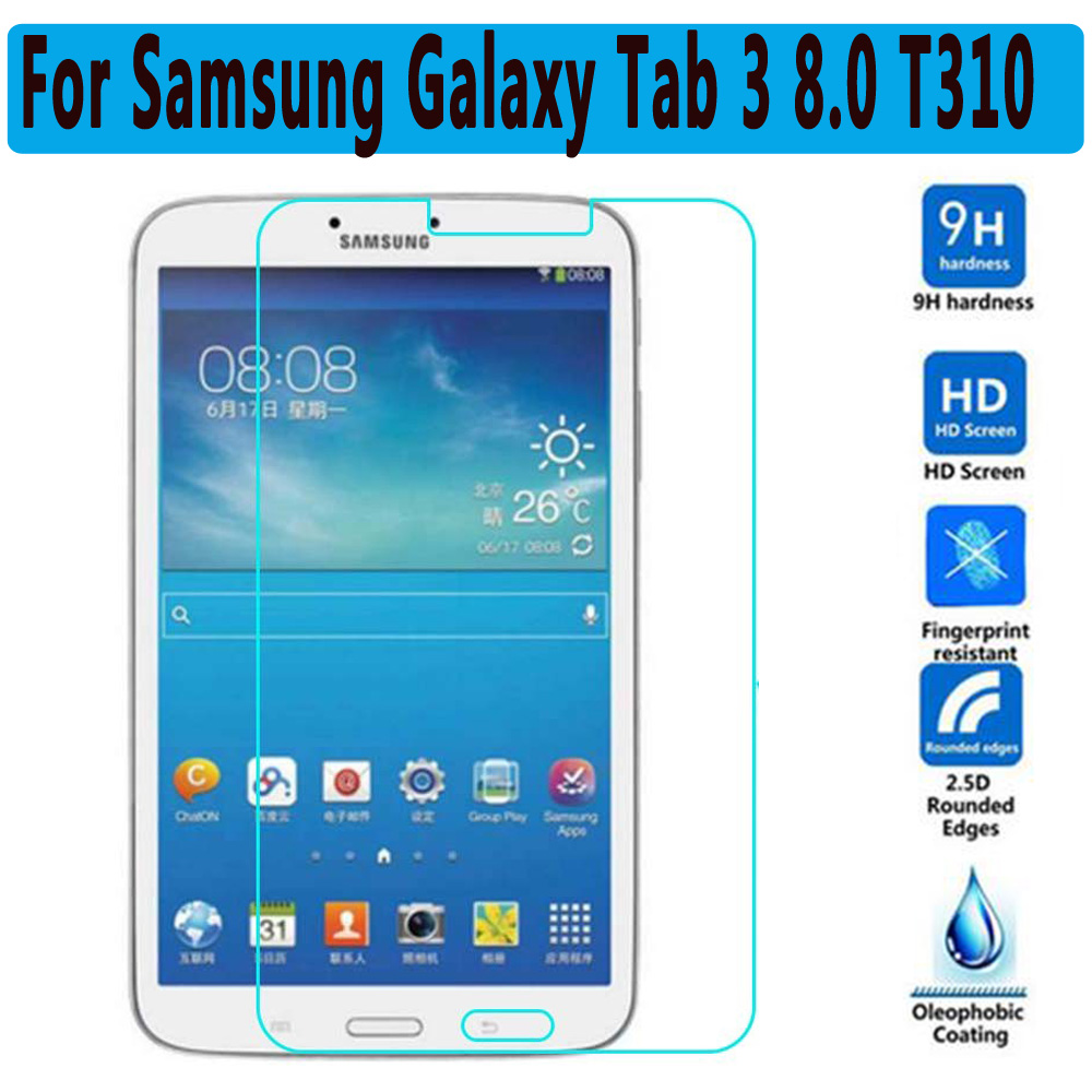 Premium Tempered Glass Film for Samsung Galaxy Tab 3 8.0 T310 T311 T315 Screen Protector for Samsung Galaxy Tab 3 8.0 inch T310