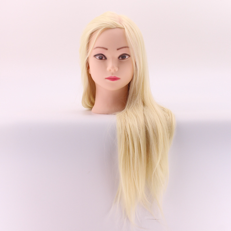 New Arrival Mannequin Head For School Practise Hairstyling Professional Training Head with White Hair