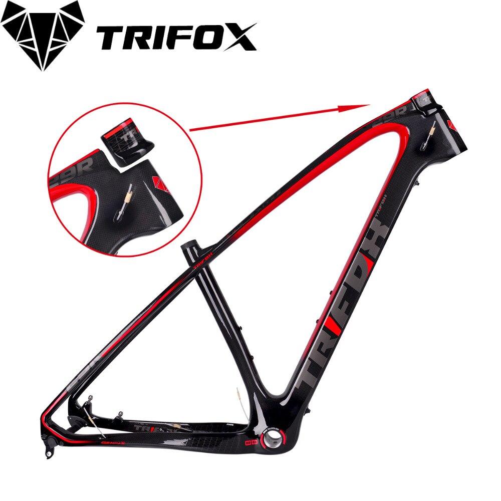 NOUVEAU TRIFOX Carbone vélo de montagne Cadre, VTT Cadre En Carbone, 29er, VTT Cadre + collier de Selle + Casque