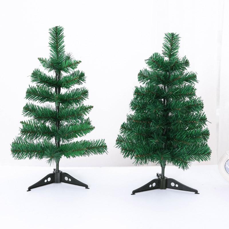 Miniature Artificial Christmas Trees: 45cm Mini Artificial Christmas Tree Small Xmas Green